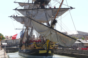 The life-size replica of the Hermione (Courtesy Friends