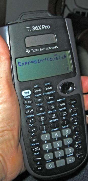 NavList: Re: TI-36X Pro Calculator for Sight Reduction (117200)